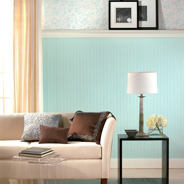 Beadboard Paintable Wallpaper Wallpaper by Graham and Brown 600x600