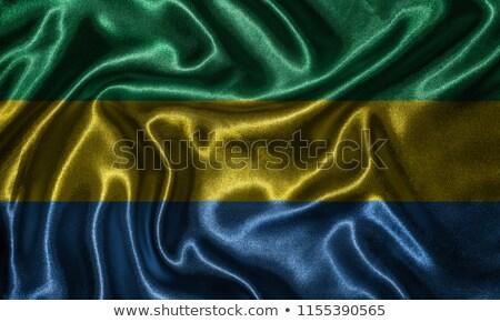 Gabon Flag Fabric Flag Gabon Country Stock Photo Edit Now 1000x600