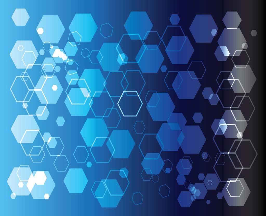 Blue Geometric Shapes 1024x833