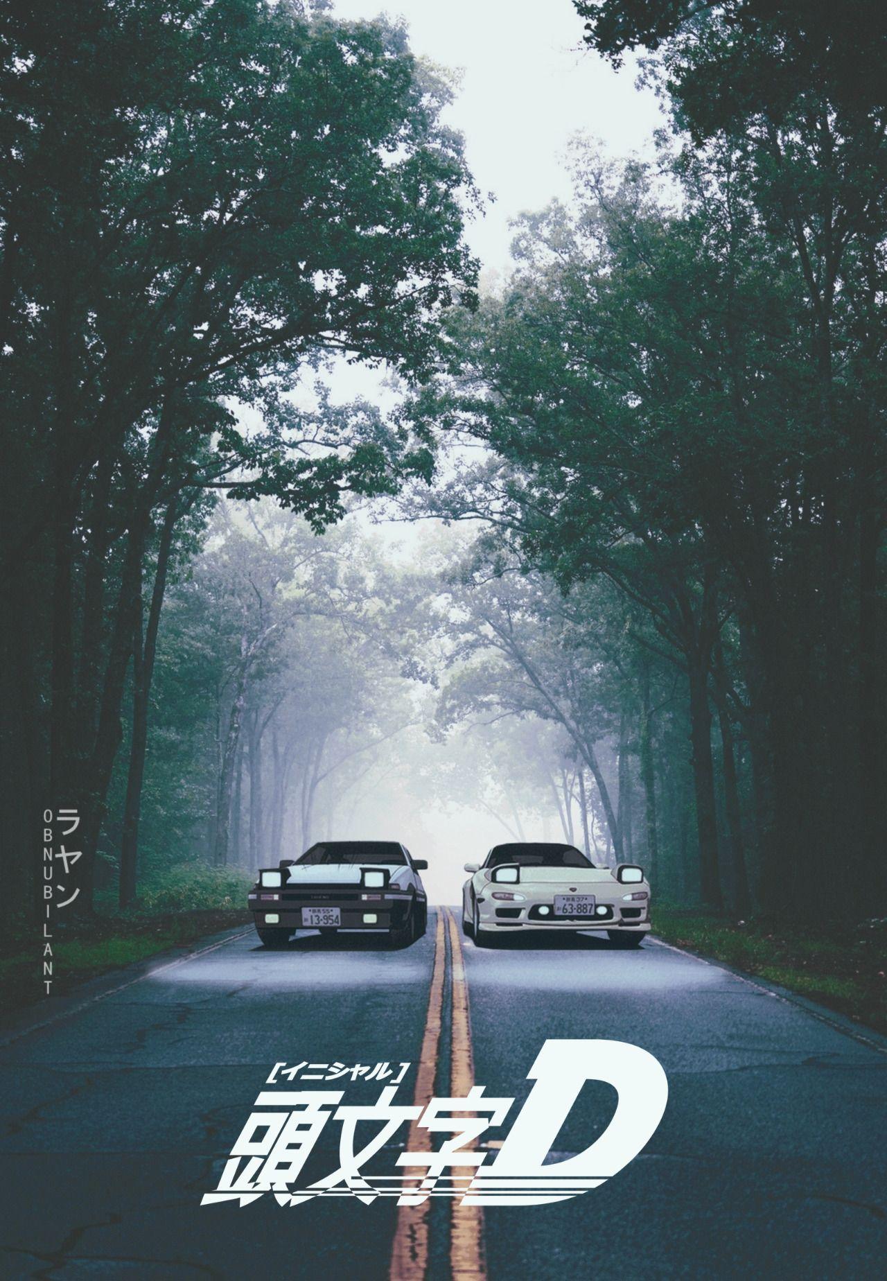Initial D D Jdm wallpaper Initial d car Automotive artwork 1280x1848