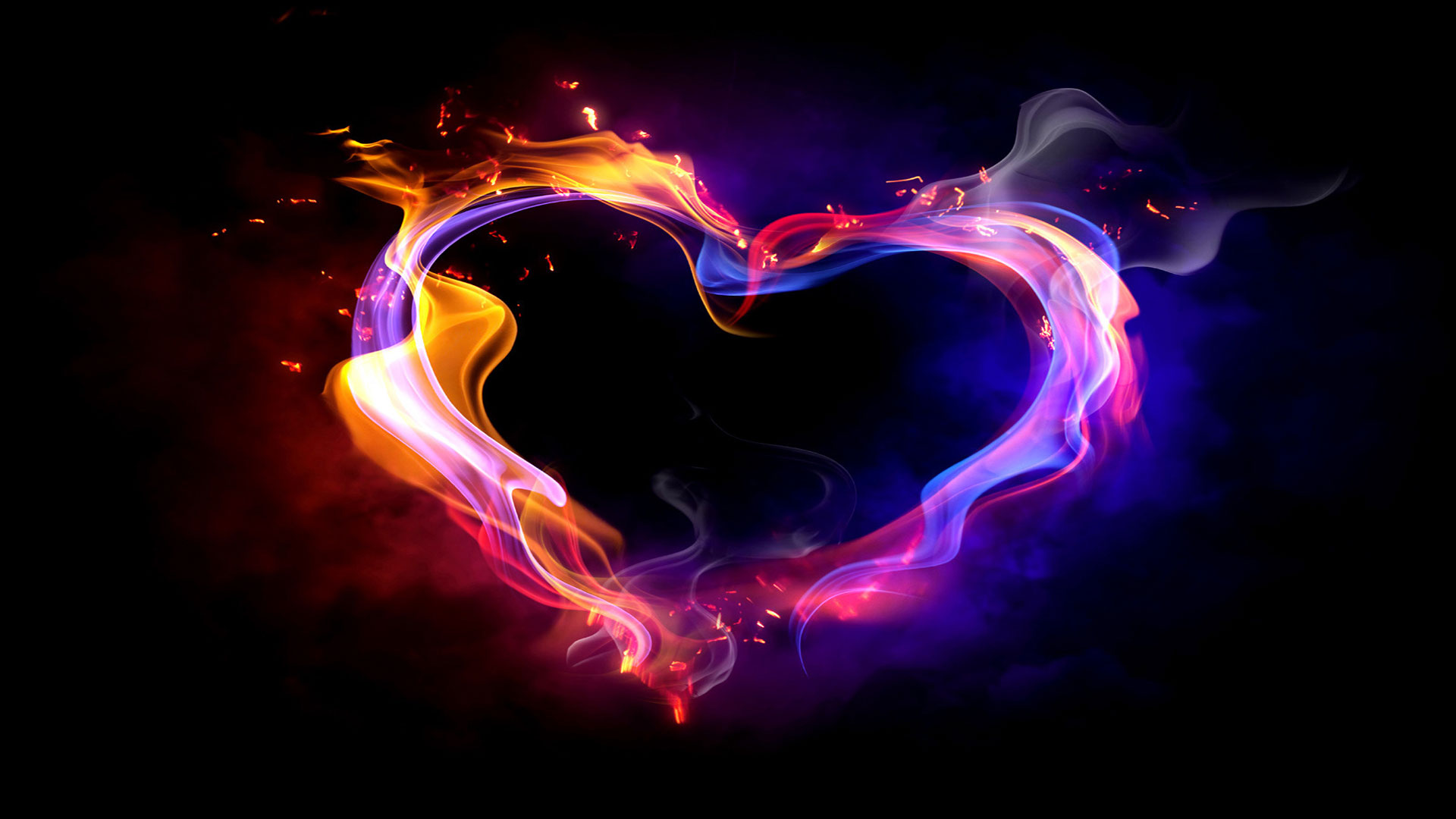 Download Colorful Smoke Heart 20818 Hd Widescreen Wallpapers By 1920x1080