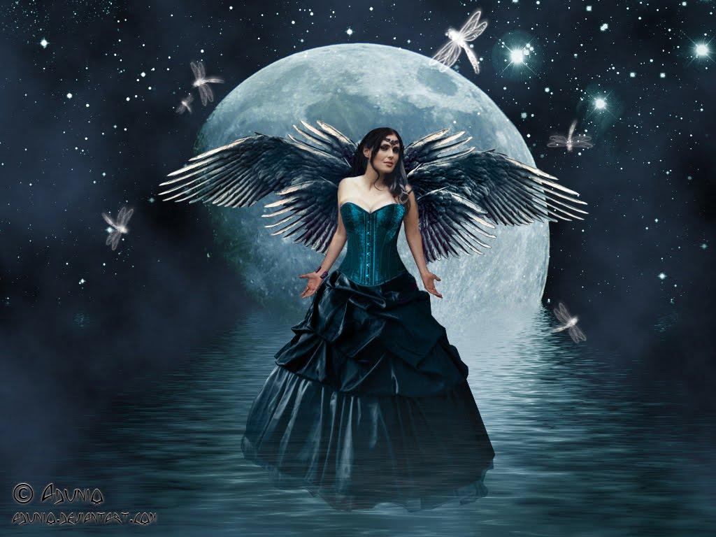 Dark fairy wallpaper desktop