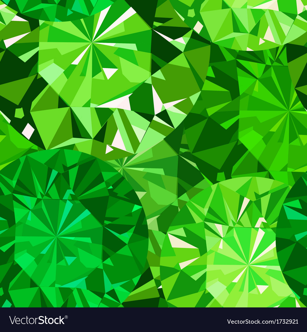 Gem seamless pattern Emerald pattern background Vector Image 1000x1080