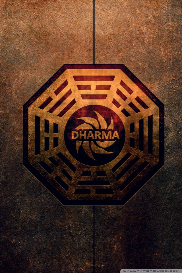 Dharma Initiative Logo 4K HD Desktop Wallpaper for 4K Ultra HD 640x960