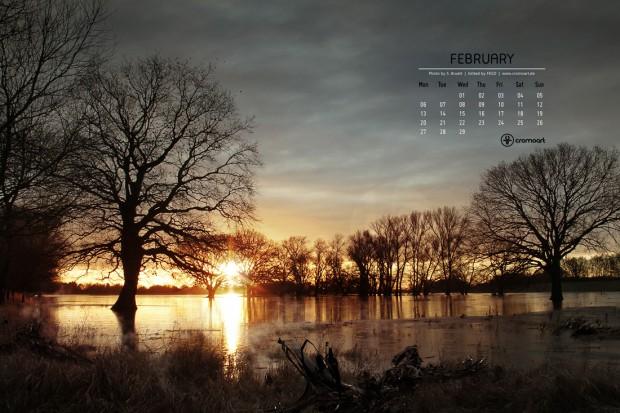 free desktop calendar february 2012 cromoart various styles february 620x413