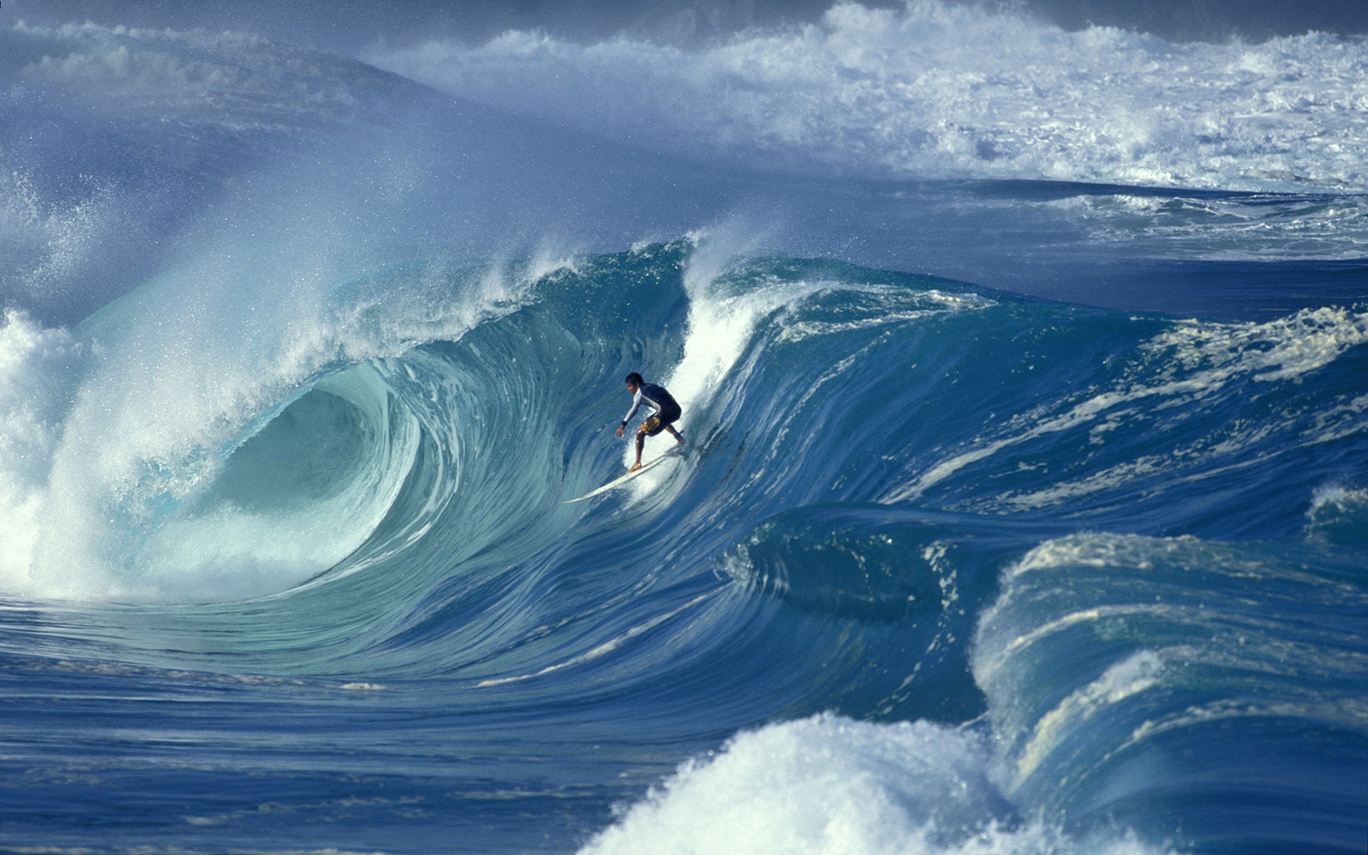 Wallpaper wave surfing big wave waimea shorebreak hawaii desktop 1920x1200