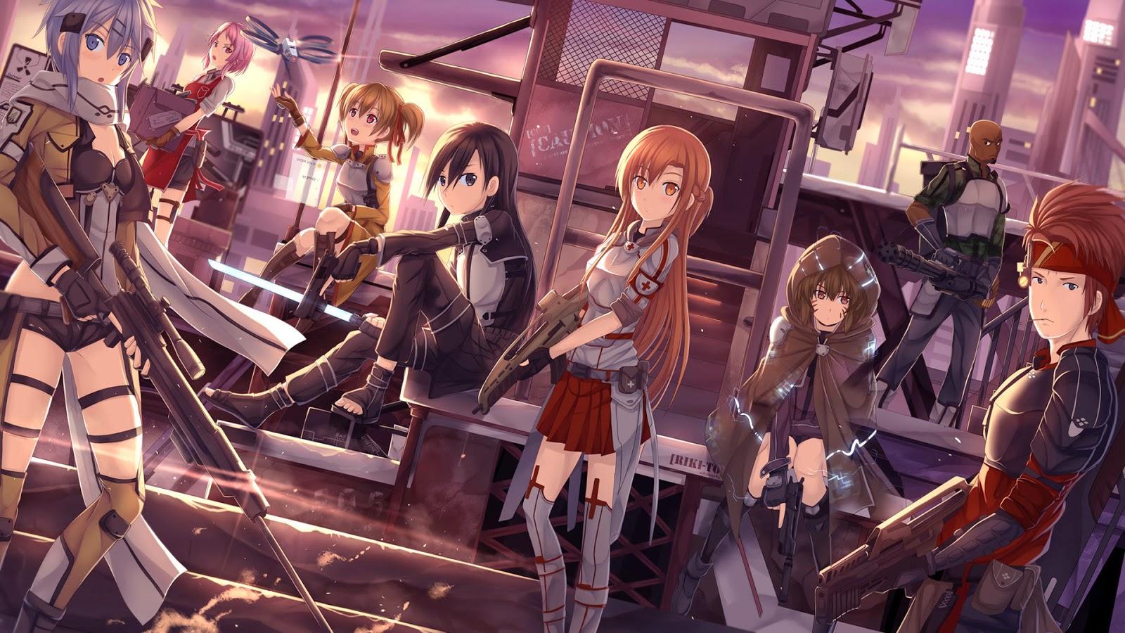 Asuna Sword Art Online 2 Gun Gale Anime 2014 Hd Wallpaper 1600x900