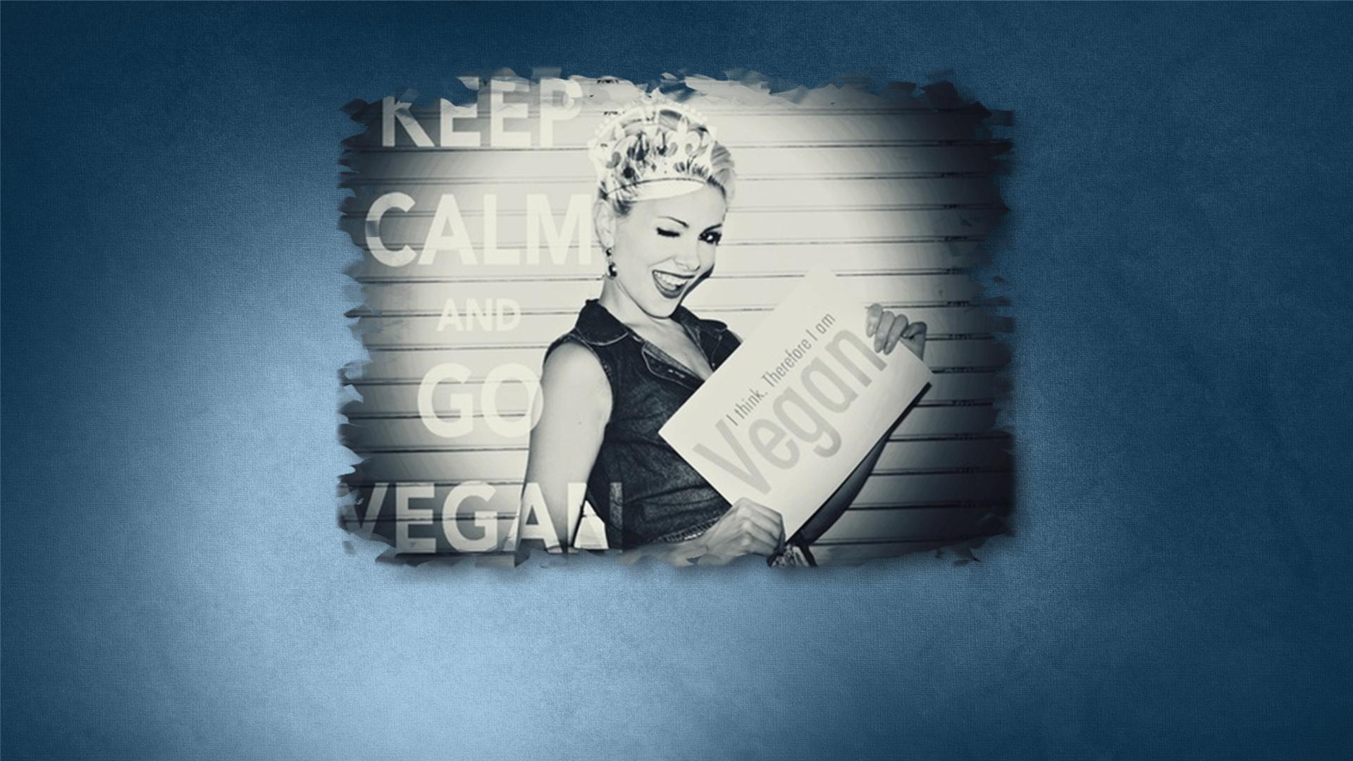 Vegan   Vegan Vegetarian Veg Girl Calm To go Keep Calm Go Veg 1920x1080