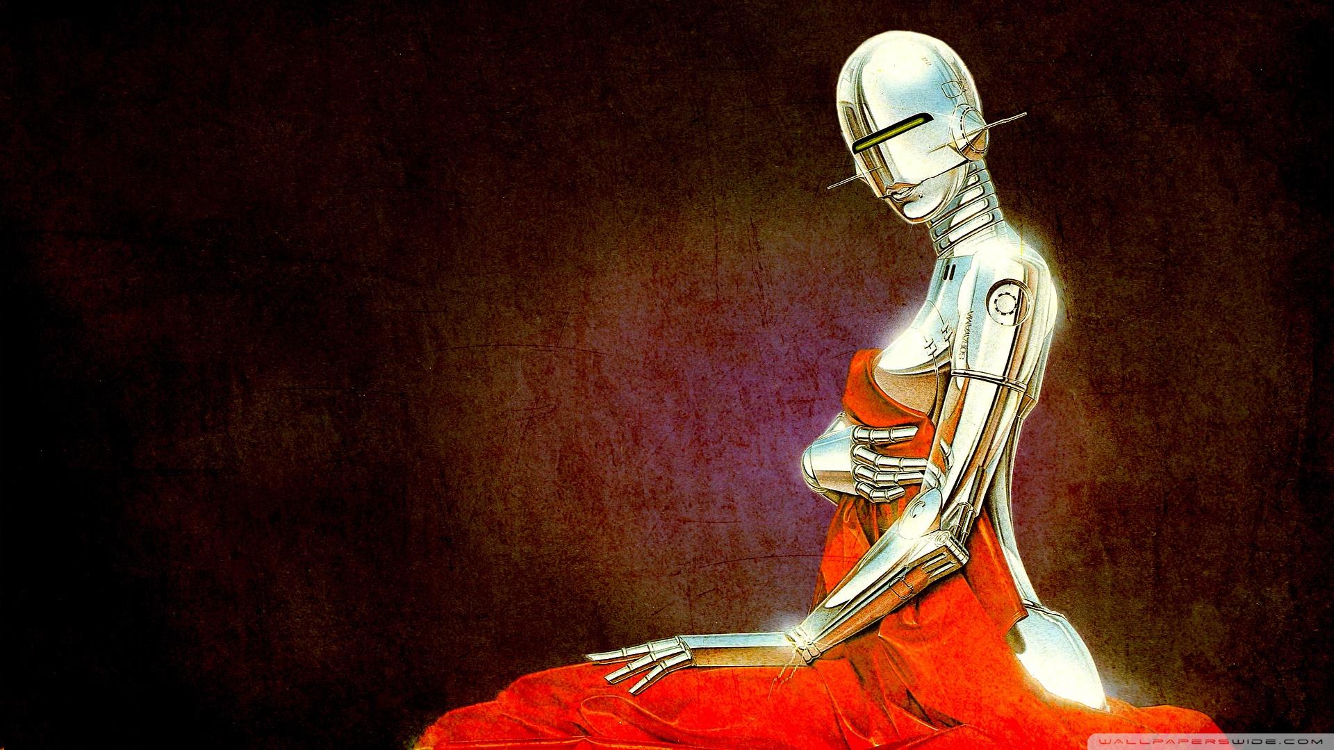 Robot Vintage Illustration Wallpaper 1920x1080 Robot Vintage 1920x1080