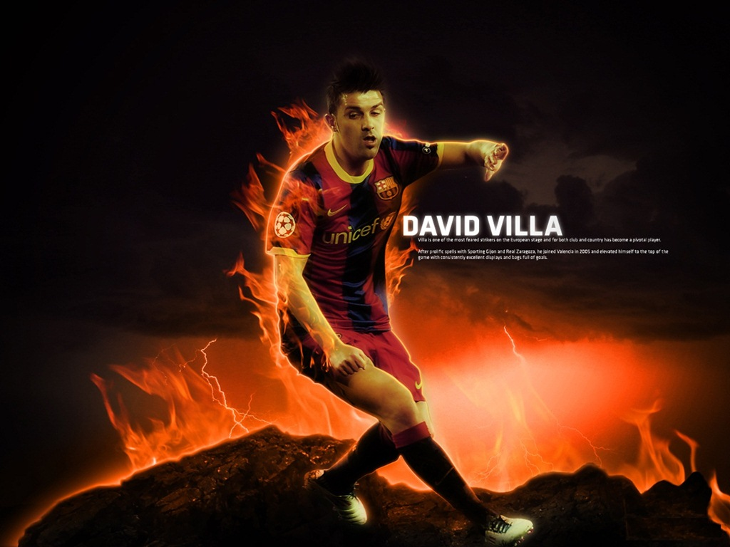 BALL in the WORLD David Villa Wallpaper 1024x768