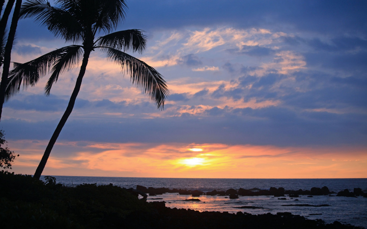 Tropical sunset near Keauhou Beach 1440x900 wallpaper download page 1440x900