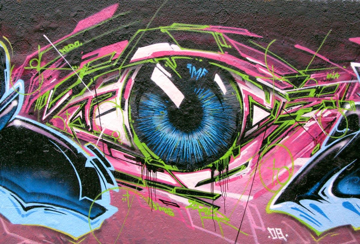 Cool Blue Graffiti Wallpapers newhairstylesformen2014com 1200x812