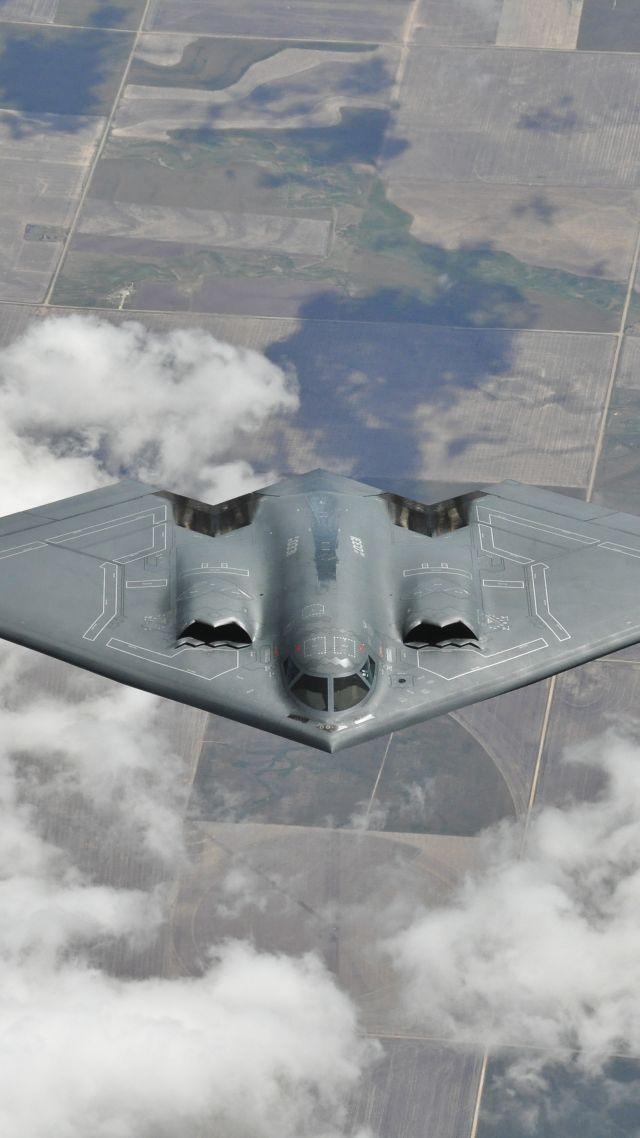 Wallpaper Northrop B 2 Spirit bomber Aircraft US Air Force 640x1138