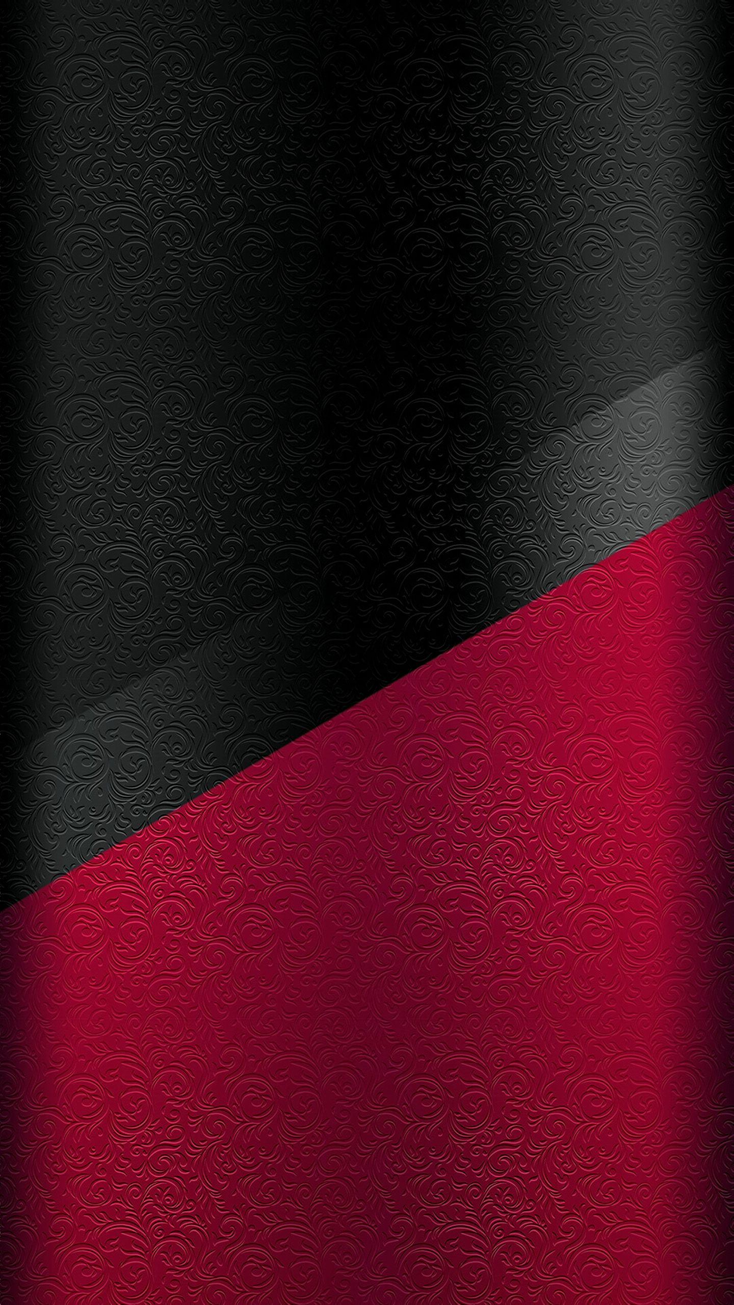 Dark S7 Edge Wallpaper 08   Black Background and Silver Line Red 1440x2560