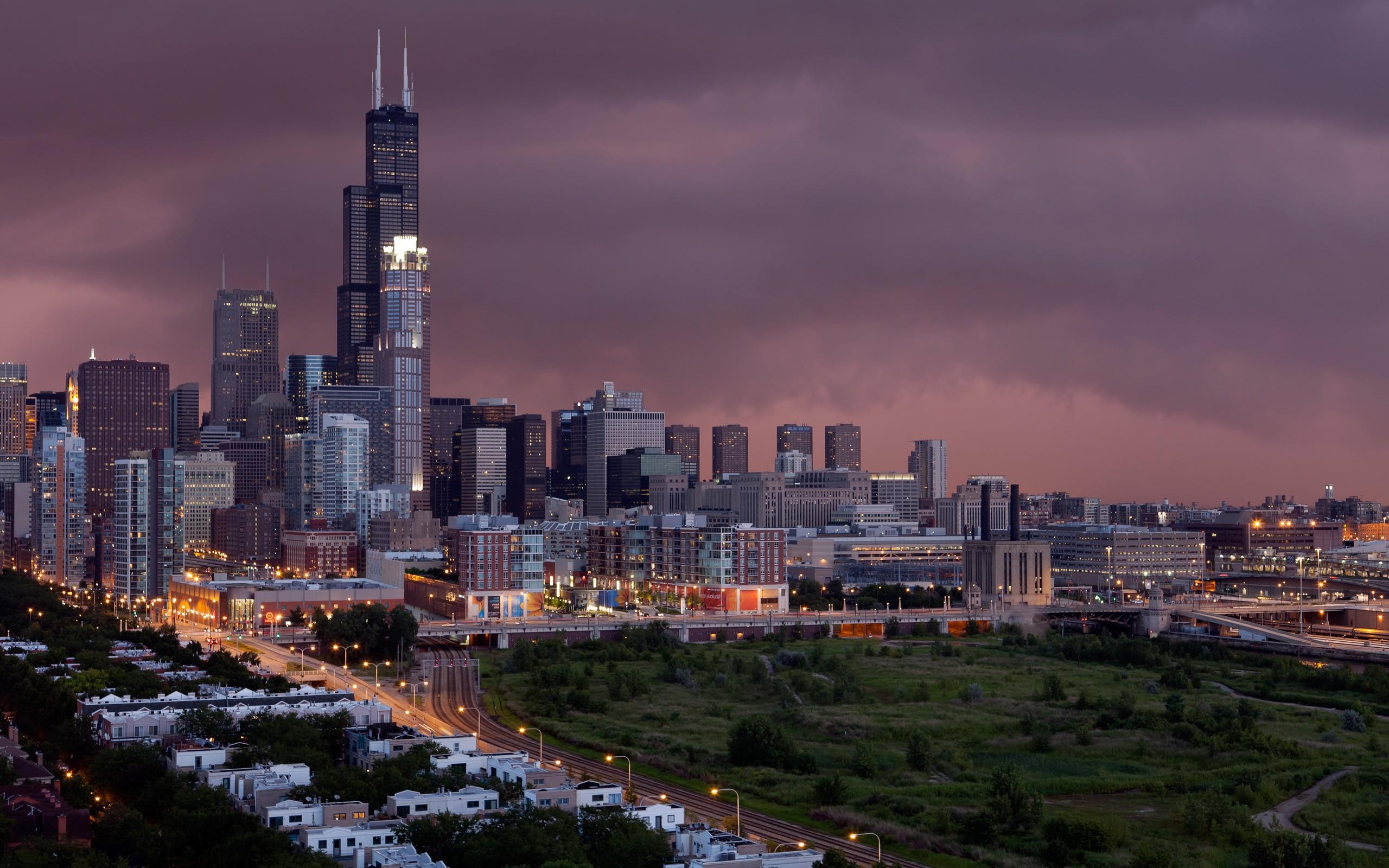 Chicago Cityscape Illinois   Wallpaper 35591 2560x1600