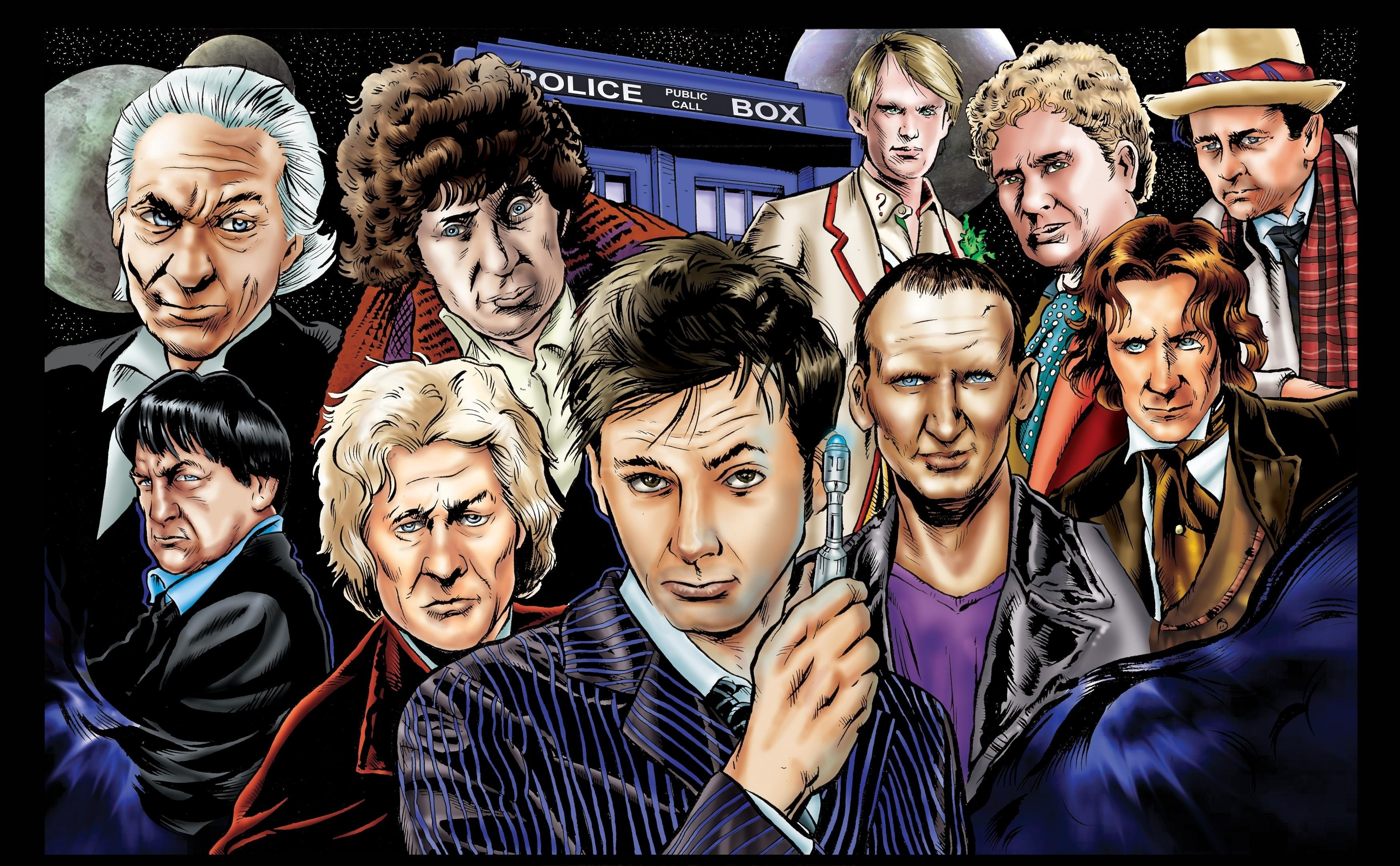 Almost all the Doctors Art with almost all the Doctors 3501x2165