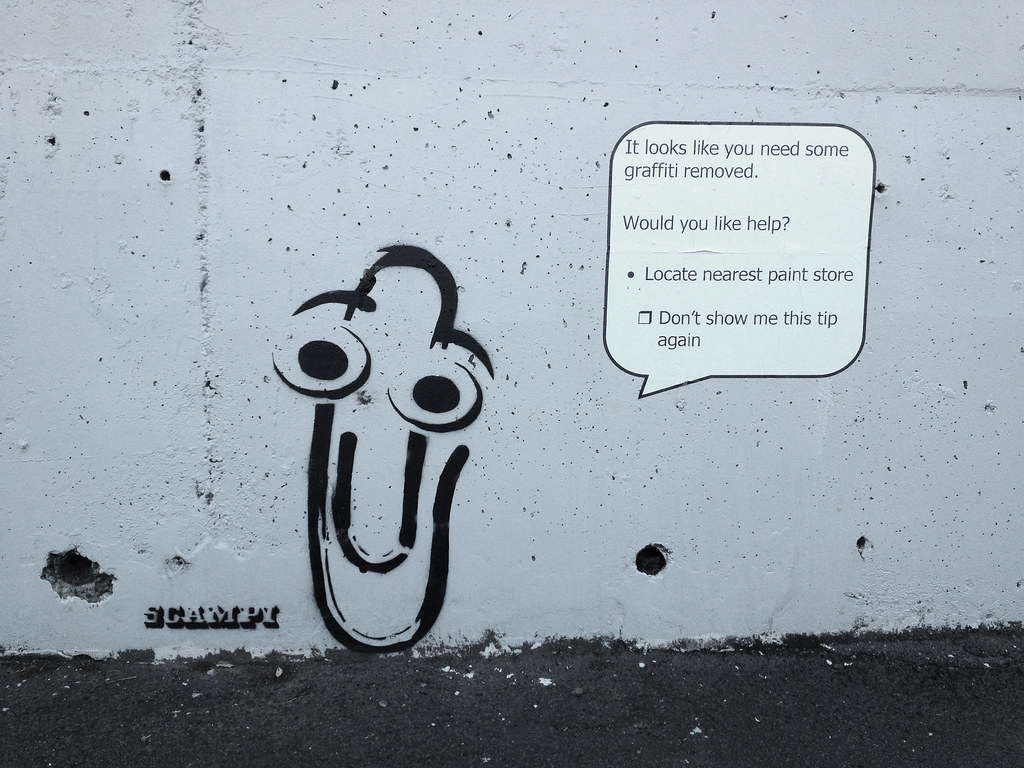 Clippy Scampi Wellington New Zealand scampiart Flickr 1024x768