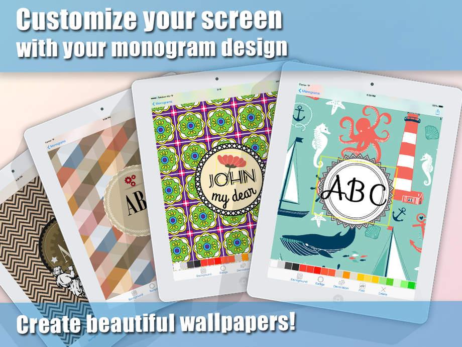 Monogram Wallpaper Maker and Professional Background Design Creator 920x690
