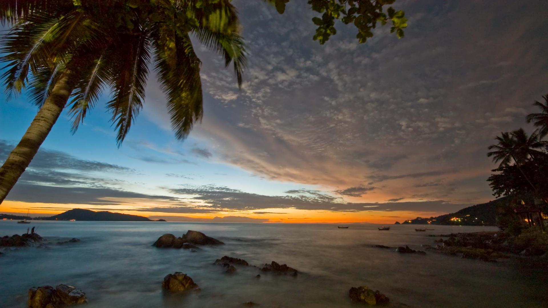 Patong Sunset Beach Thailand HD Wallpaper Patong Sunset Beach Thailand 1920x1080