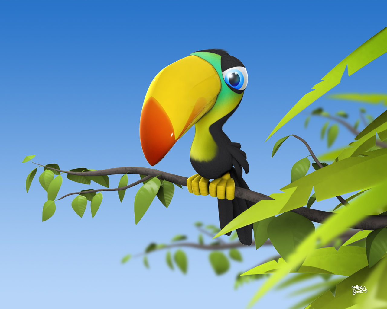 Animals Zoo Park Funny 3D Cartoon Wallpapers   Desktop Background 1280x1024