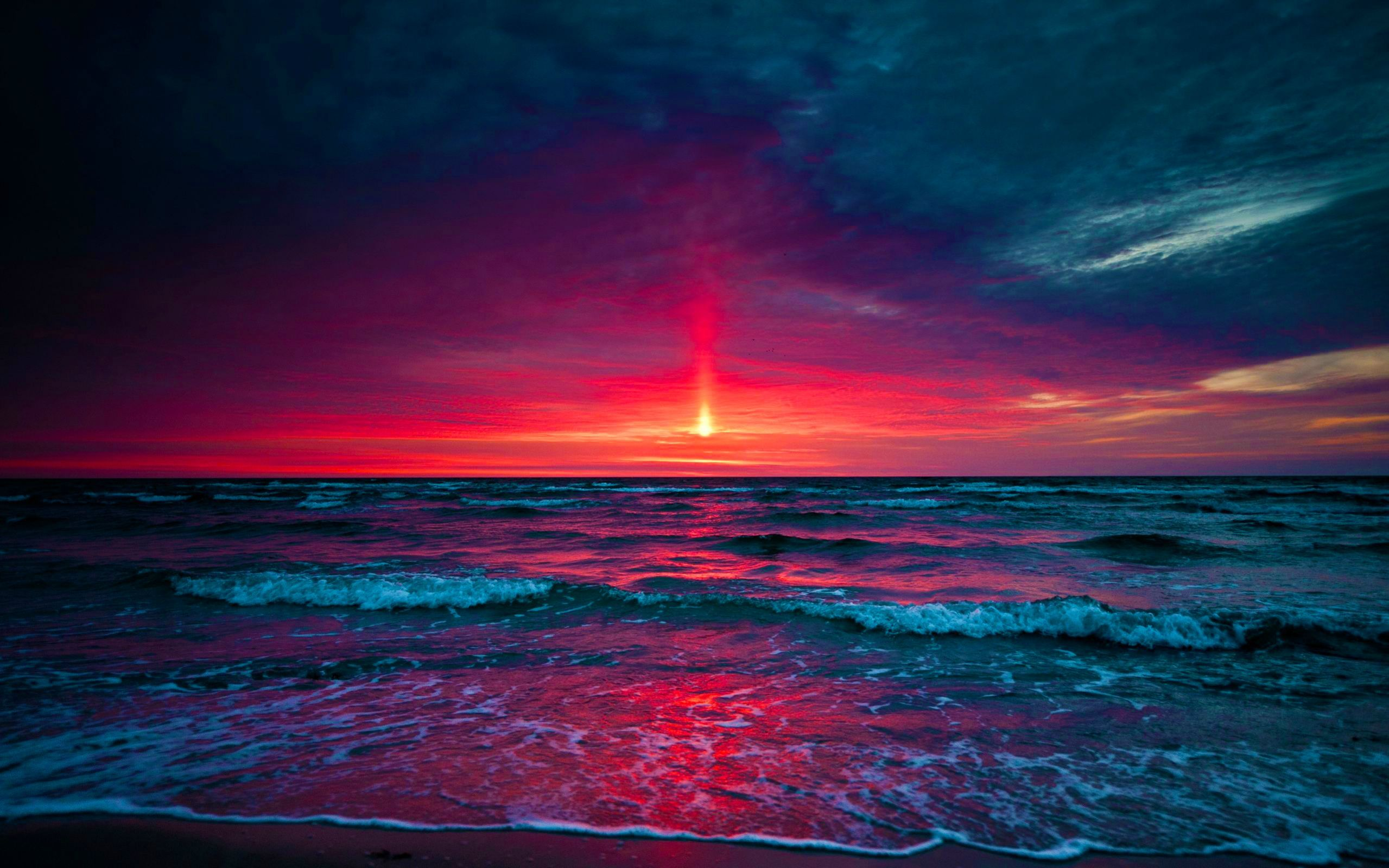 50 Ocean Purple Sunset Wallpapers   Download at WallpaperBro 2559x1599