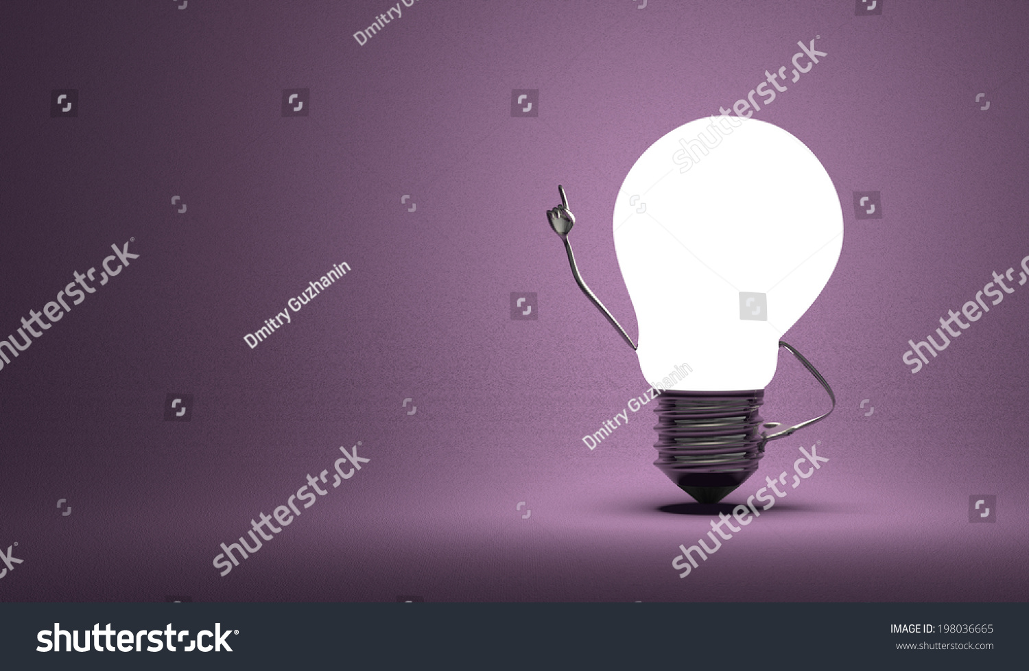 Glowing Light Bulb Character Moment Insight Stock Illustration 1500x978