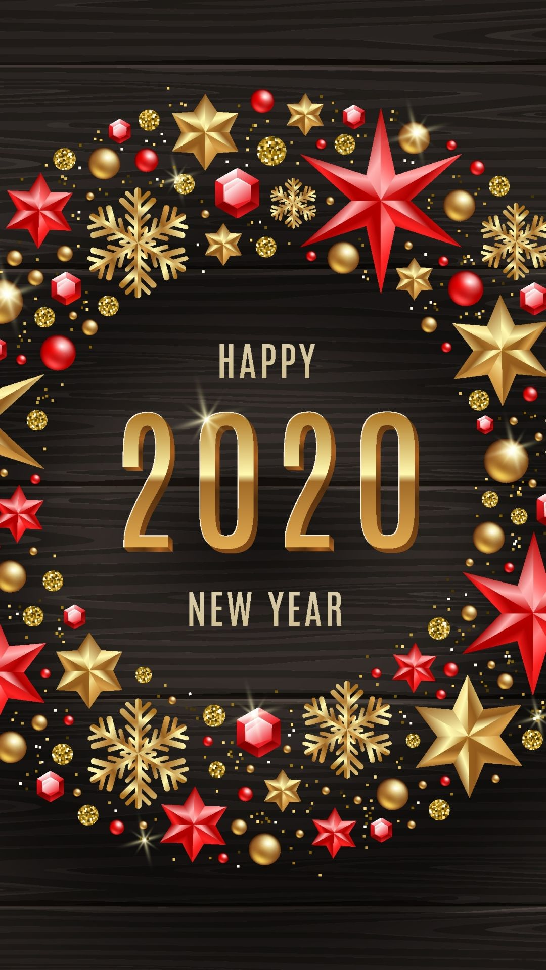 Download Happy New Year 2020 Wishes Wallpaper for your Android 1080x1920