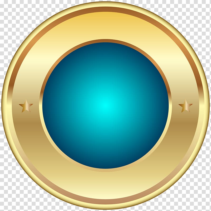 Round gold and blue logo Circle Font Seal Badge Blue transparent 800x800