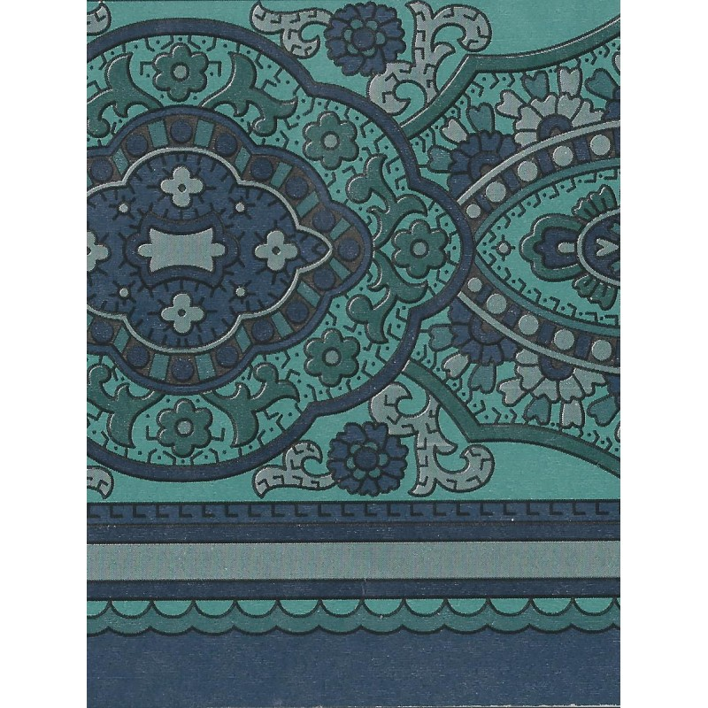 Navy Blue Paisley Wallpaper Wallpapersafari