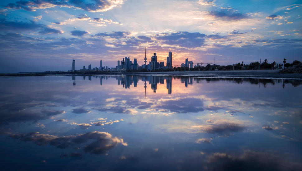 city kuwait city the reflectionclouds wallpaper and desktop 970x550