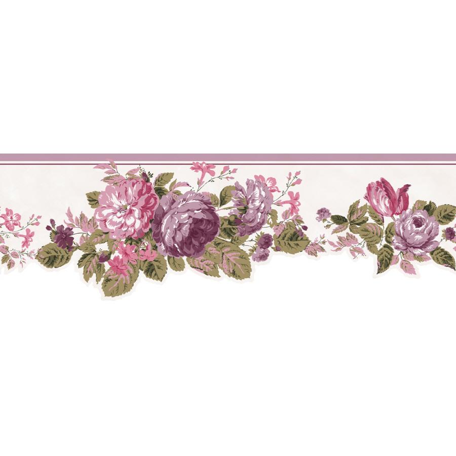 Shop Sanitas 6 12 Cottage Rose Prepasted Wallpaper Border at Lowes 900x900