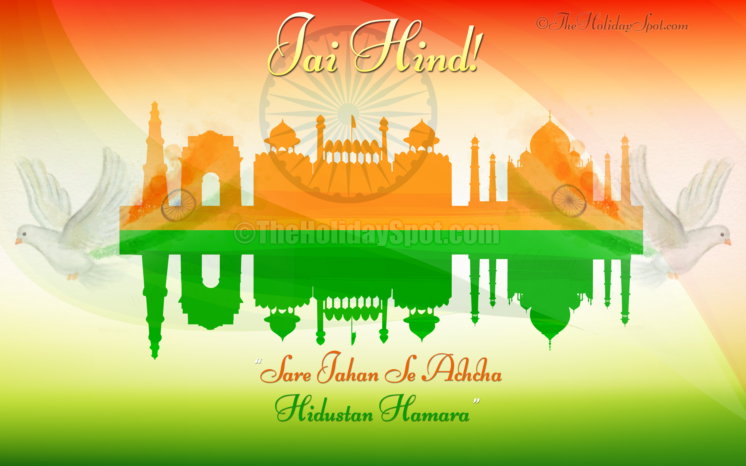 15th August Indian Independence Day Wallpapers 2560x1600