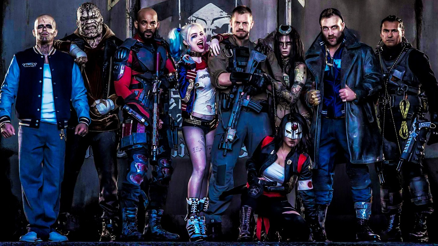Download Suicide Squad 2016 Cast Movie Poster HD Wallpaper Search 1449x815