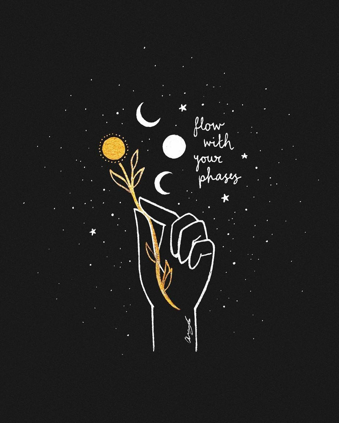 MoonPhases Art and Stories Illustration art Art Wallpaper quotes 1080x1346