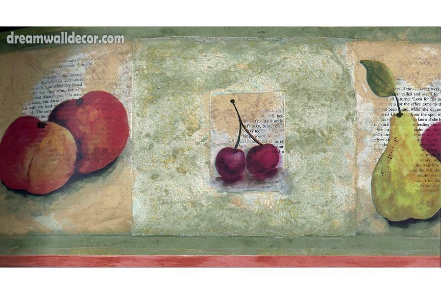 Peach Berries Fruit Wallpaper Border 900x600