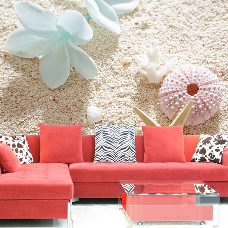 dimensional wallpaper seashells mural sofa background wall wallpaper 750x750