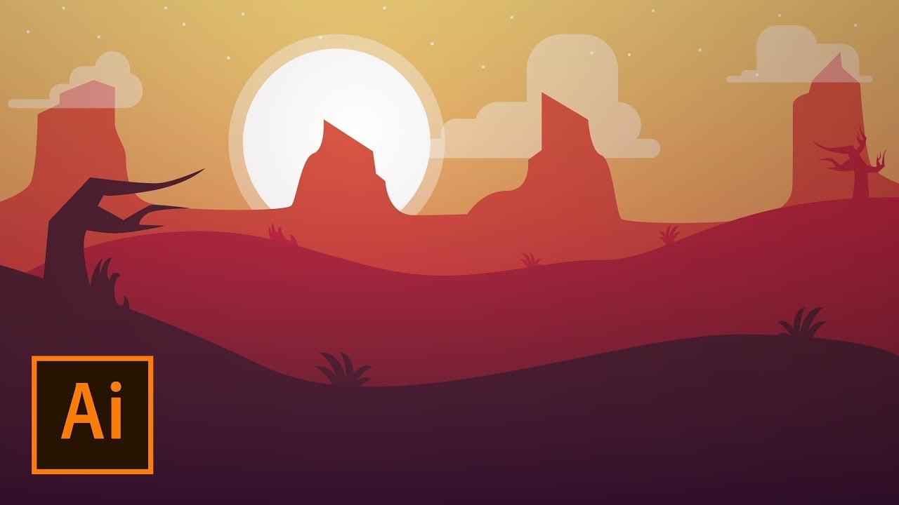 Wallpaper illustrator quick tutorial 1280x720