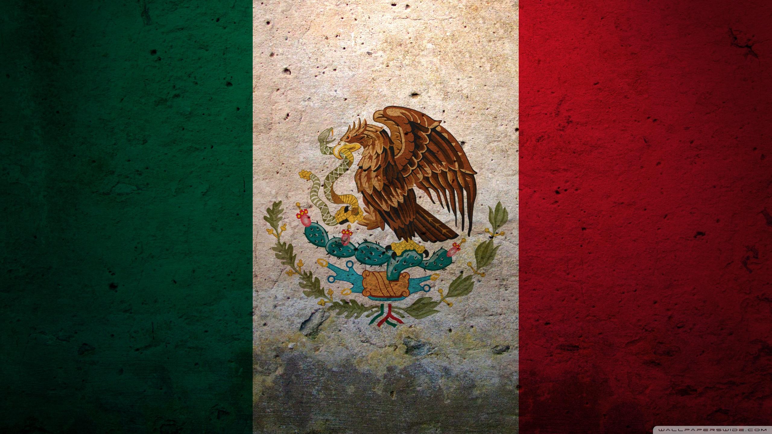 Grunge Flag Of Mexico 4K HD Desktop Wallpaper for 4K Ultra HD 2560x1440