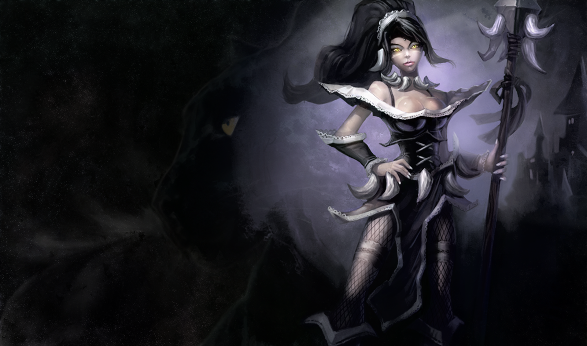 French Maid Nidalee Wallpaper by dreaming myth 1920x1133