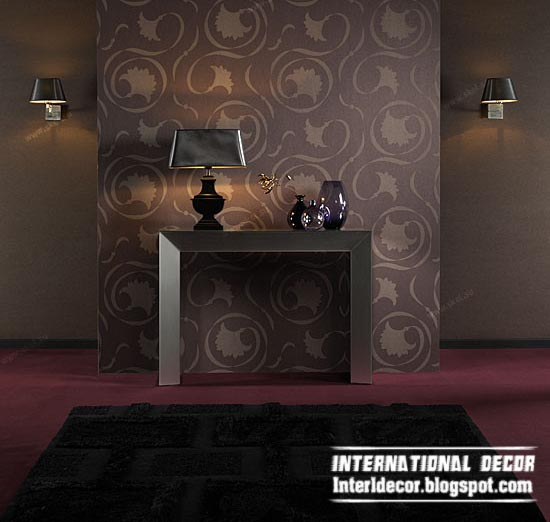 modern living room wallpaper brown design ideas interior 550x522