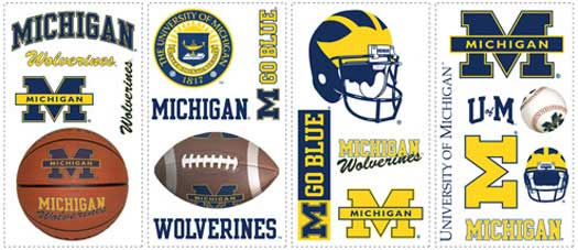 Michigan Wolverines Wallpaper Border BE7173B   Wallpaper Border 525x227