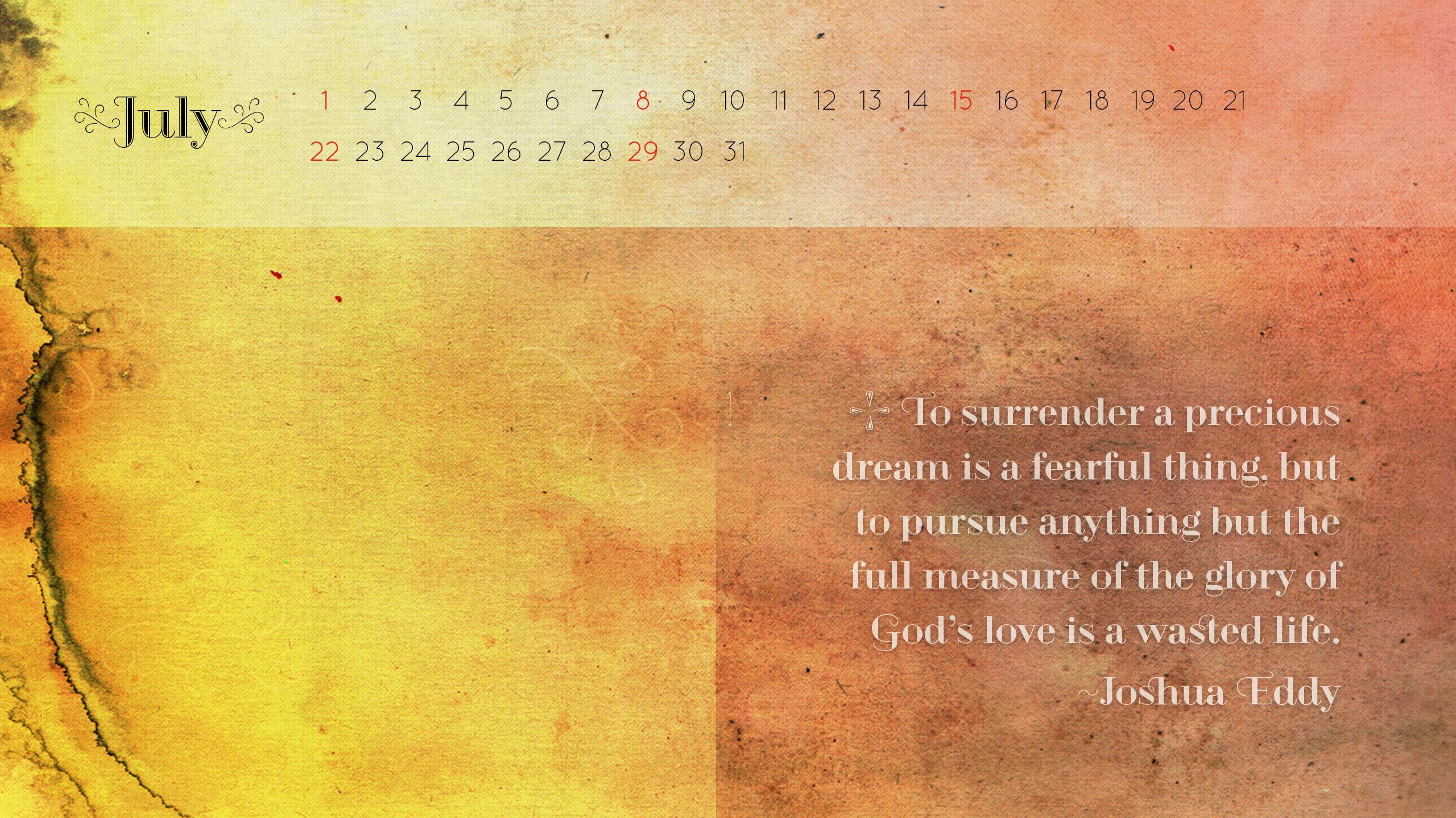 Desktop Wallpaper Calendars July 2012 2560x1440