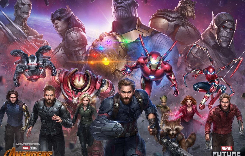 Wallpaper Iron Man Marvel Captain America Thor Black Widow 1332x850