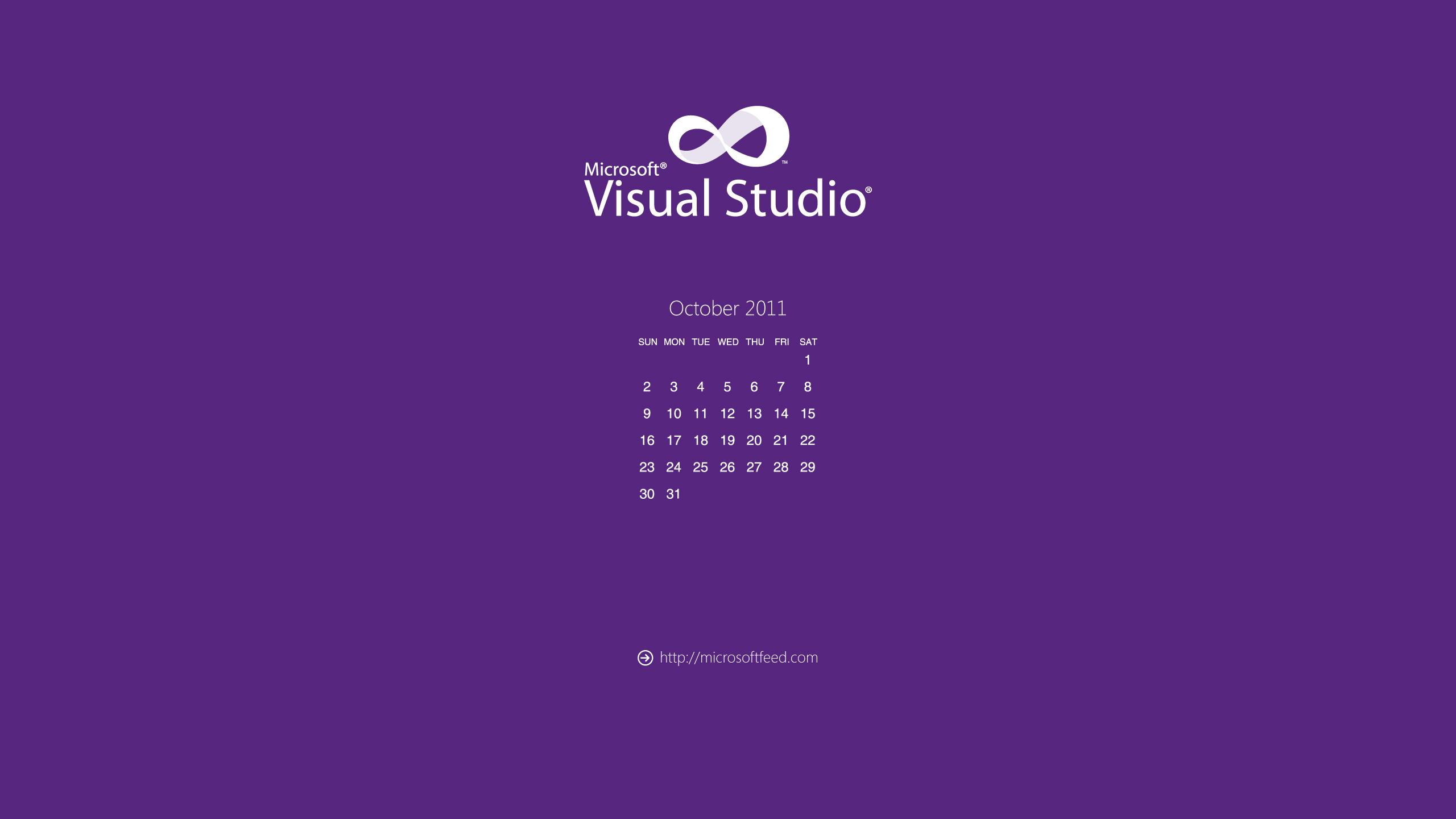 visual studio metro style desktop wallpaper calendar october 2011jpg 2560x1440