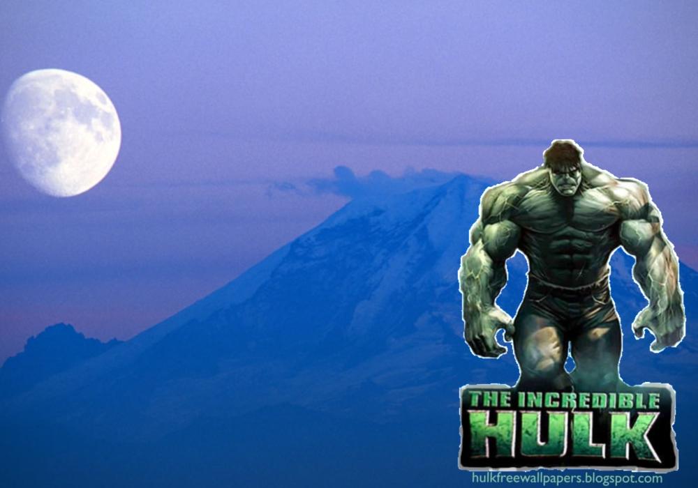 Hulk Desktop Wallpapers Hulk The Movie in Moon Blue Mountain wallpaper 1000x700