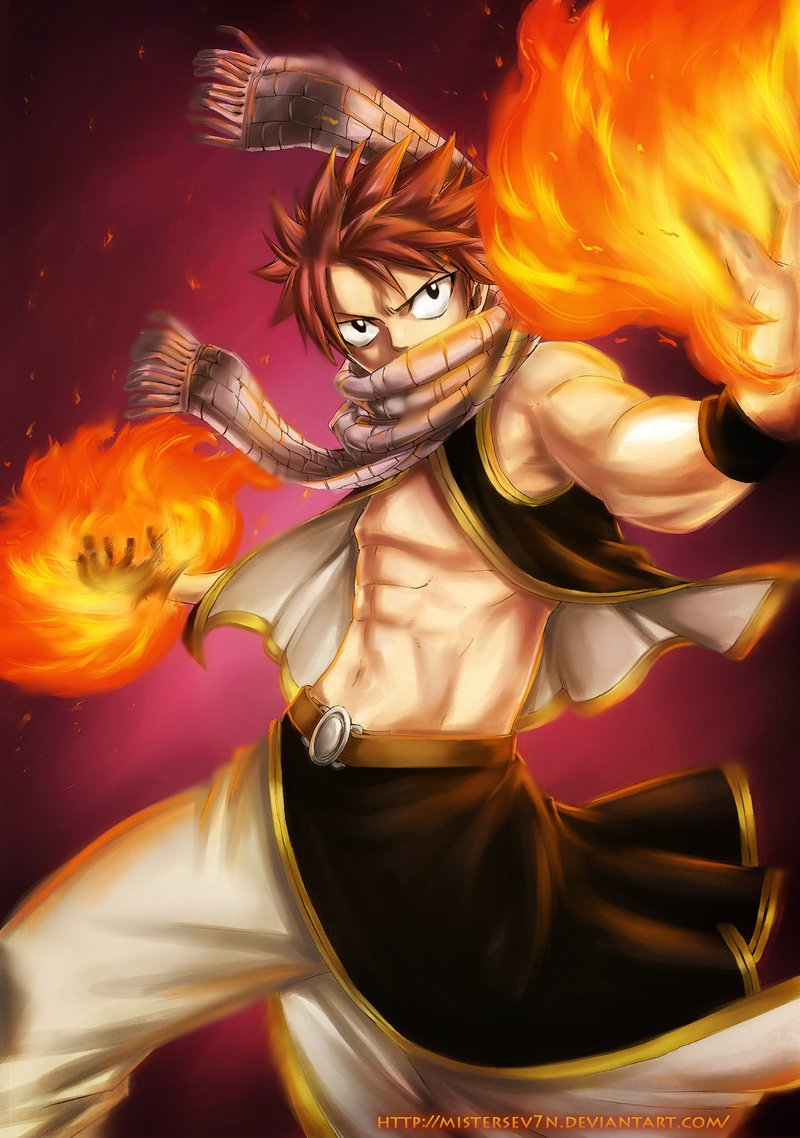 Natsu Dragneel Fairy Tail Mage Dragon Slayer Anime Fan Art 800x1138