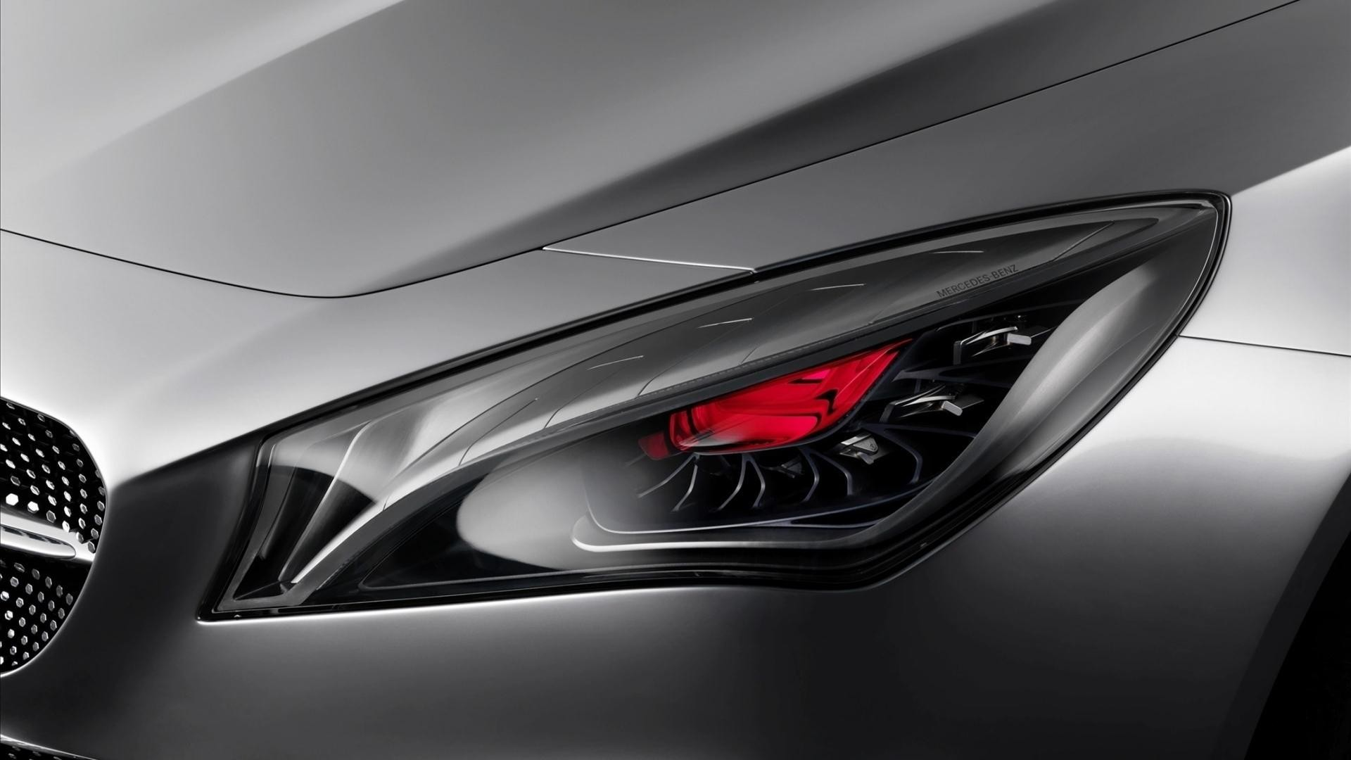 red cars Mercedes CLA headlight cla 200 Wallpapers 1920x1080