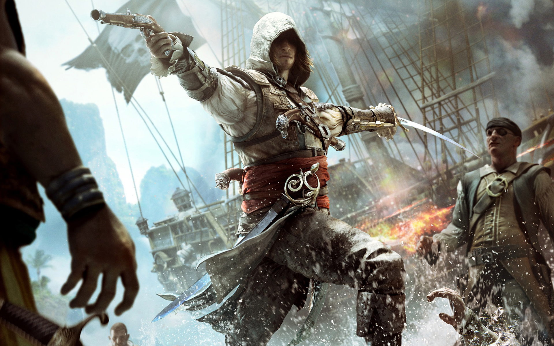 Ac4 Black Flag Wallpaper 30 Background Pictures 1920x1200