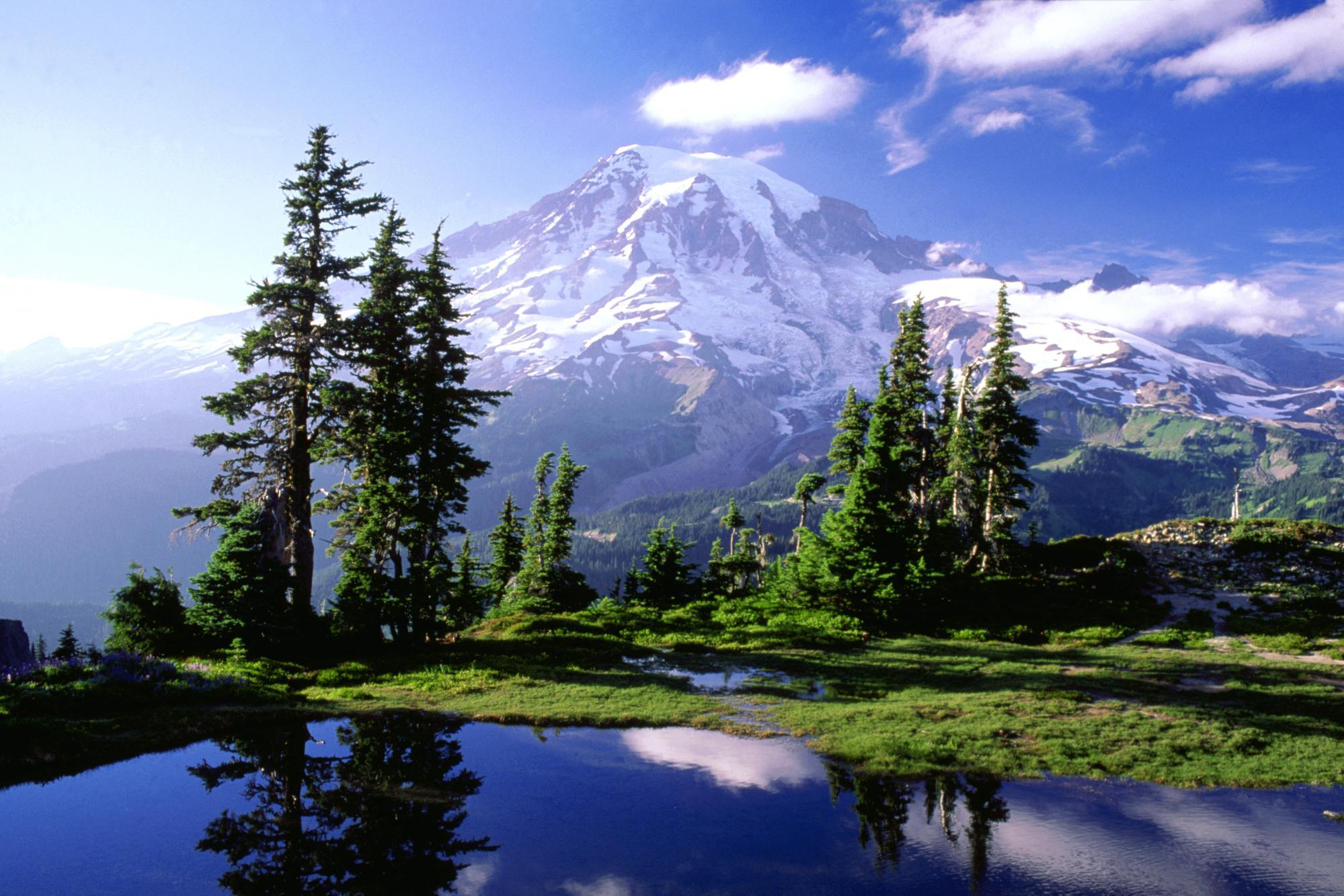 Mount Rainier Mountain Beautiful Wallpaper   PhotosJunction 1999x1333