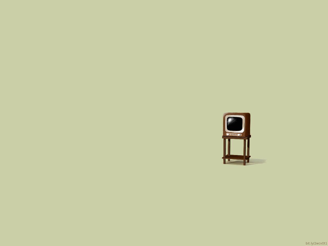 Retro TV Minimalist desktop wallpaper Desktop wallpaper simple 1280x960